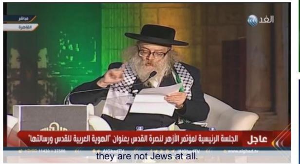 Rabbi Meir Hirsh, pemimpin Neturei Karta International, organisasi Yahudi anti-Zionisme.