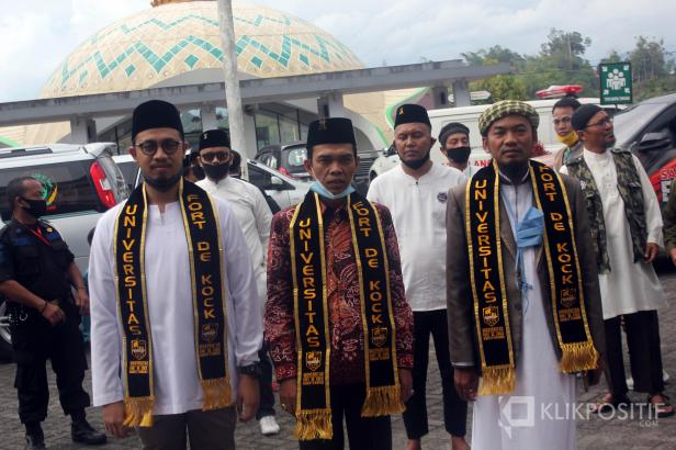UAS saat tiba di Universitas Fort de Kock Bukittinggi