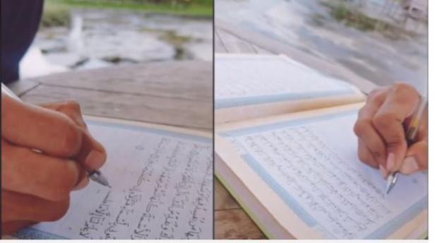 Al Quran tulisan tangan.