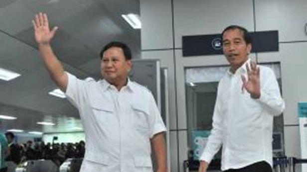 Ketua Umum Partai Gerindra Prabowo Subianto dan Presiden Joko Widodo