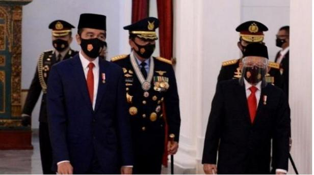 Presiden Joko Widodo dan Wakil Presiden Maruf Amin
