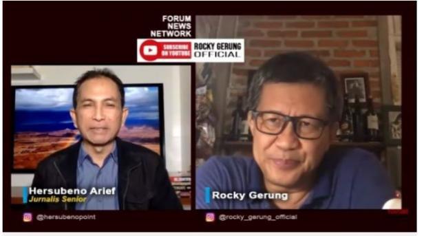 Rocky Gerung Sindir 51 Guru Besar Yang Minta RUU KPK Dibatalkan.