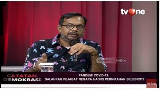 Haris Azhar soal Jokowi dan Prabowo hadiri pernikahan Atta-Aurel