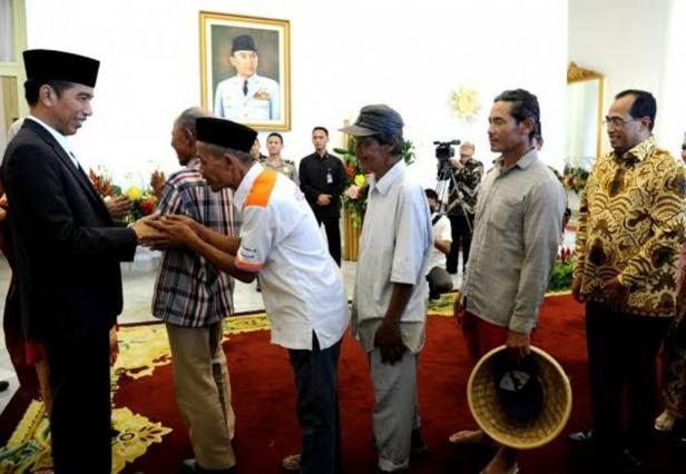 Presiden Jokowi saat 'Open House' Idulfitri Tahun 2018 di Istana Negara