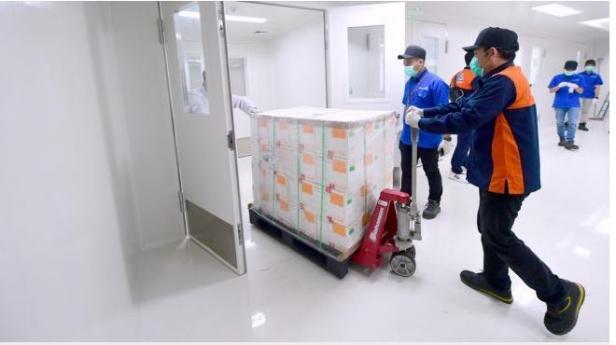 Vaksin Covid-19 buatan Sinovac disimpan di Kantor Pusat Bio Farma Kota Bandung