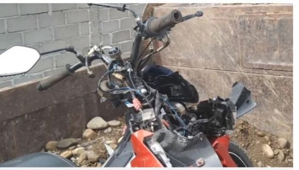 Motor barang bukti kecelakaan menyala sendiri saat tengah malam