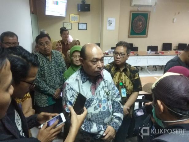 Staf Ahli Kementerian Kesehatan Bidang Desentralisasi Kesehatan Pattiselanno Roberth Johan di RSUP Dr M Djamil