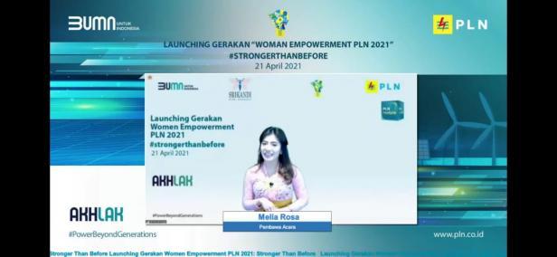 Peringati Hari Kartini, PLN resmikan gerakan Srikandi PLN via zoom meeting dan youtube live pada Rabu (21/04) lalu.