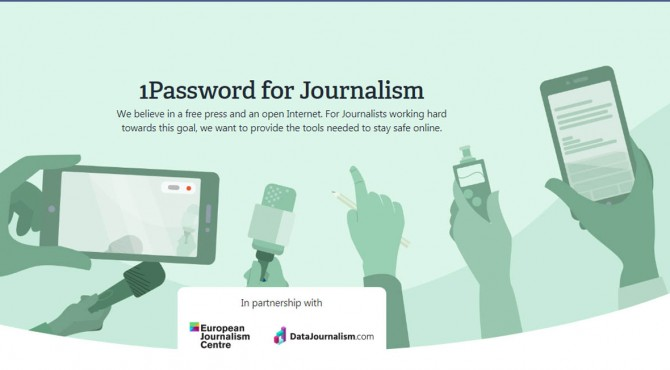 1Password fot Journalism