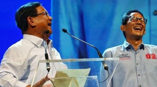 Paslon nomor urut 02  Prabowo - Sandiaga