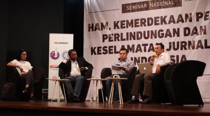 Seminar Nasional HAM Kemerdekaan Pers Perlindungan dan Keselamatan Jurnalis Indonesia di Kedutaan Kerajaan Belanda untuk Indonesia