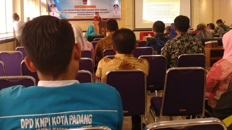 Sosialisasi APBDP di Ruang Pertemuan Dinas Kesehatan Kota Padang, Kamis 22 Agustus 2019