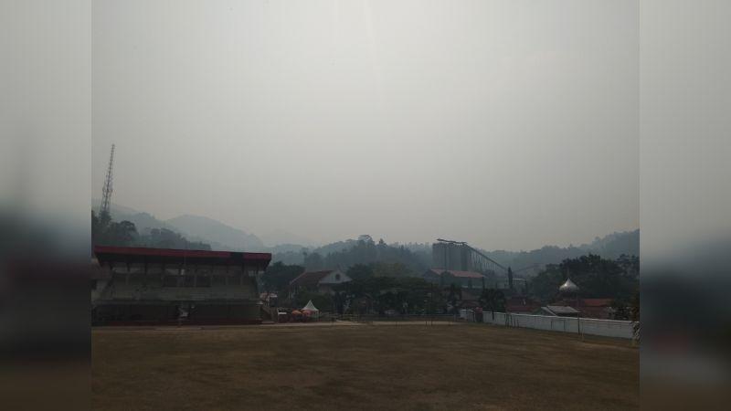 Kabut Asap yang Menyelimuti Kawasan Kota Tua Sawahlunto