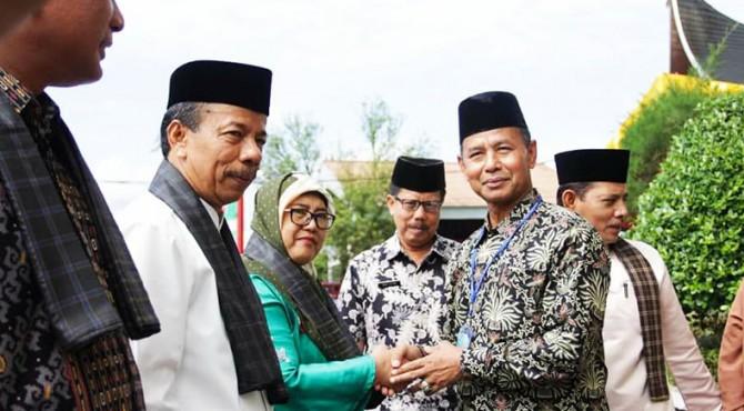 Sekda Kabupaten Solok, Aswirman disambut Wawako Solok Reinier