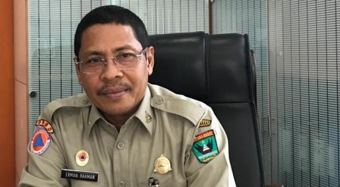 Kepala BPBD Sumbar Erman Rahman