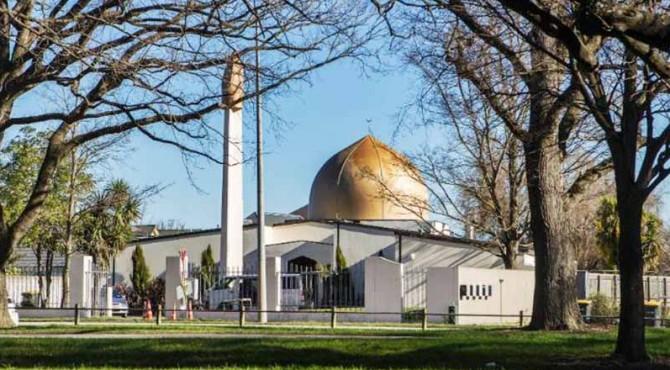 Masjid Crishtchurch Selandia Baru, salah satu lokasi penembakan massal.
