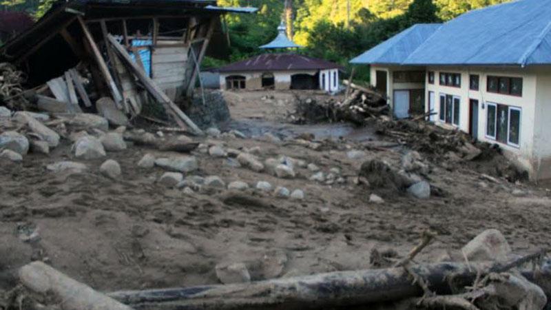 Dampak banjir bandang di Solok Selatan