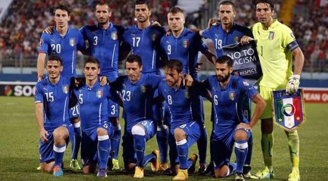 Skuad timnas Italia di gelaran EURO 2016 lalu.