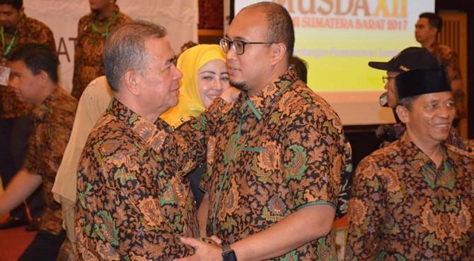Ketua DPW Gerindra Sumbar, Nasrul Abit (Kanan) Bersama Salah Satu Kader Gerindra Andre Rosiade (Kiri)