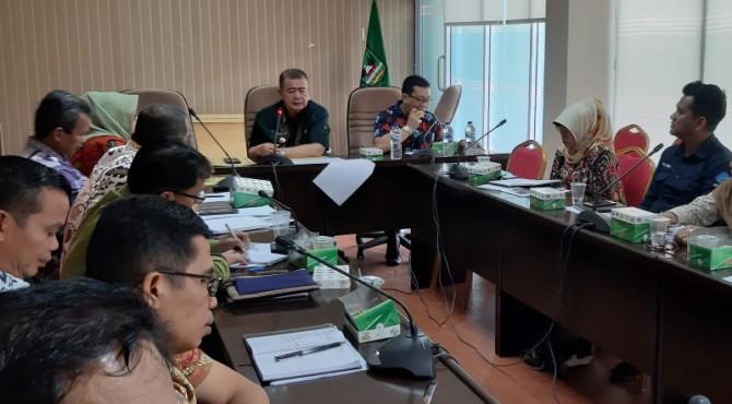Rapat koordinasi humas provinsi dan kabupaten/kota di ruang rapat kantor gubernur, Kamis 10 Oktober 2019