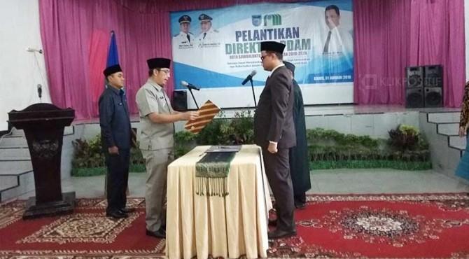 Pengambilan Sumpah Jabatan Direktur Utama PDAM Kota Sawahlunto.