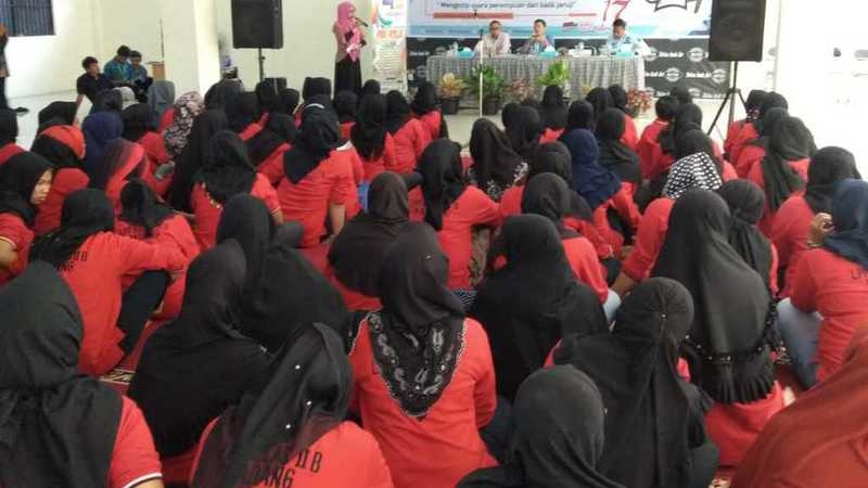 Sosialisasi pemilu di Lapas Perempuan Anak Aie Padang, Kamis, 28 Maret 2019
