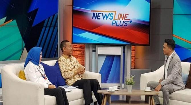 Wali Kota Pariaman Genius Umar saat tampil di Metro TV