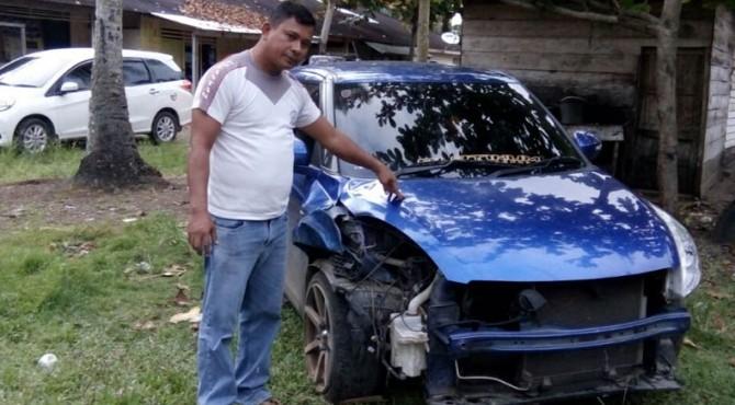 Inilah mobil yang menabrak pejalan kaki hingga meninggal dunia