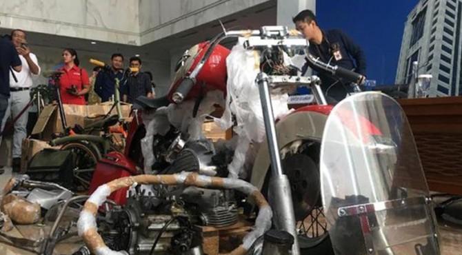 Motor Harley-Davidson yang dibawa secara ilegal diduga oleh eks Direktur Utama Garuda Indonesi