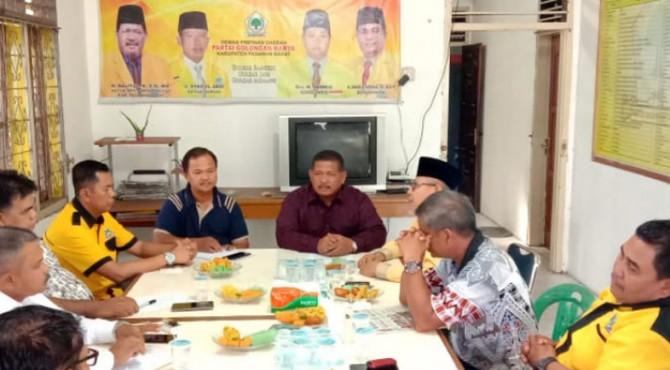 Suasana Rapat Pembentukan Tim Pemilihan Kepala Daerah DPD Partai Golkar Pasbar