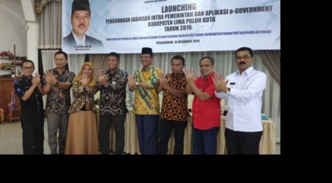 Launching penggunaan jaringan intra pemerintah di Kabupaten 50 Kota