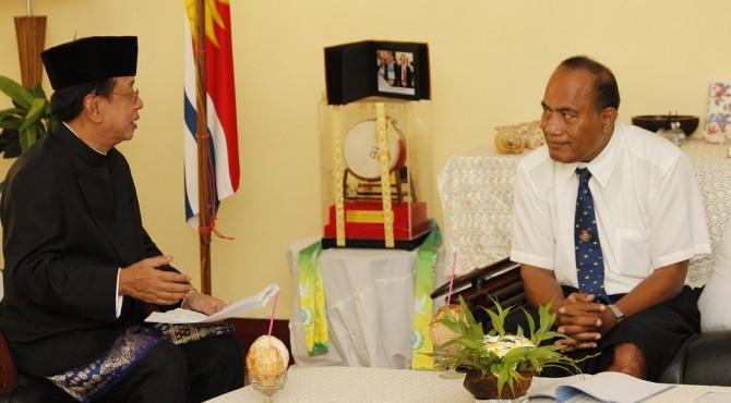 Pertemuan dengan Duta Besar RI dan Presiden Republik Kiribati