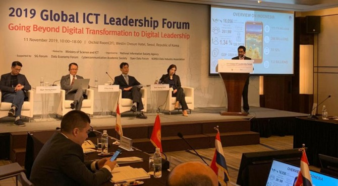 2019 Global ICT Leadership Forum di Seoul, Korea Selatan