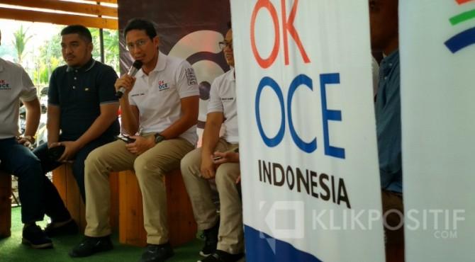 Sandiaga Uno saat berkunjung ke Kota Padang