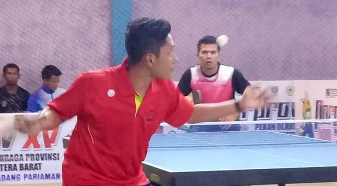 Atlet tenis meja Kota Payakumbuh yang ikut seleksi untuk kualifikasi PON.