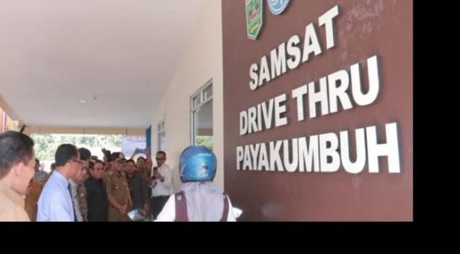 Peresmian Samsat Drive Thru Payakumbuh