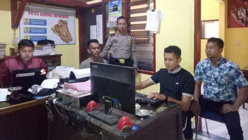 Pemeriksaan Pelaku Pencurian dan Penipuan di Mapolsek Muaro Kalaban