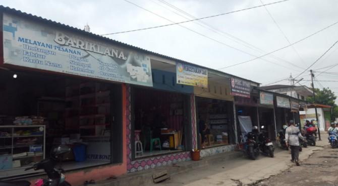 Ruko-ruko di Kampung Jao Dalam Kota Padang
