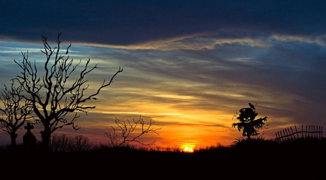 ilustrasi langit senja