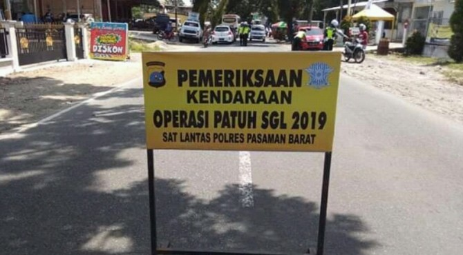 Seminggu Operasi Patuh 2019 Satlantas Polres Pasbar