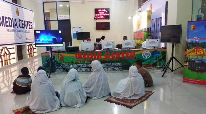 Media Center MTQ Nasional ke 38 tingkat Sumbar di Masjid Agung Al-Muhsinin.