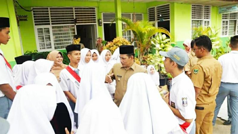 Wawako Solok sosialisasikan Perda Pekat di SMAN 2 Kota Solok.