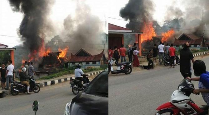 Kebakaran Kantor BPBD Sawahlunto