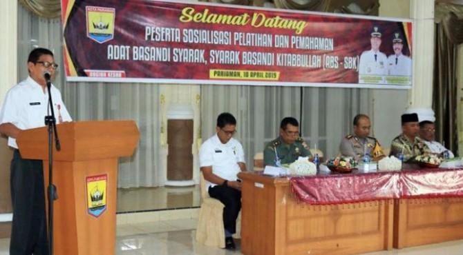 Sosialisasi Pelatihan dan Pemahaman Adaik Basandi Syarak, Syarak Basandi Kitabullah (ABS-SBK)