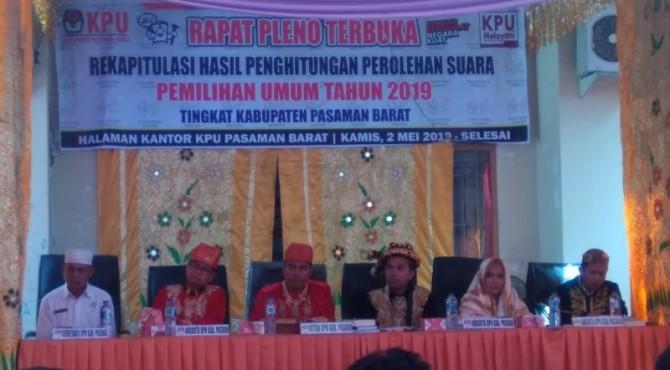 Pleno rekapitulasi suara Pasbar
