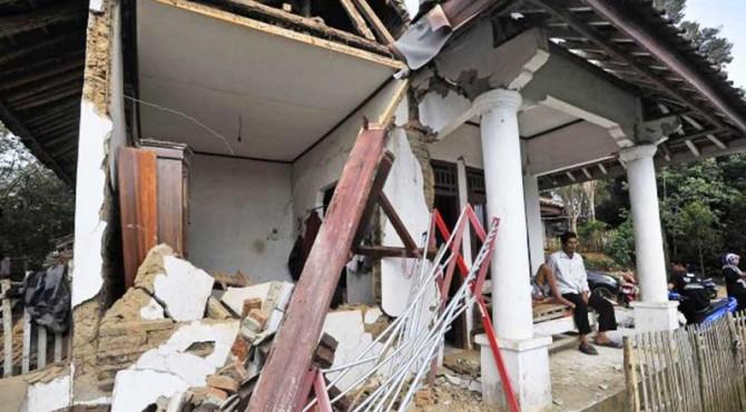 ilustrasi gempa Banten