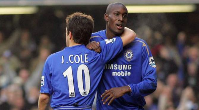 Carlton Cole bersama Joe Cole saat berseragam Chelsea.