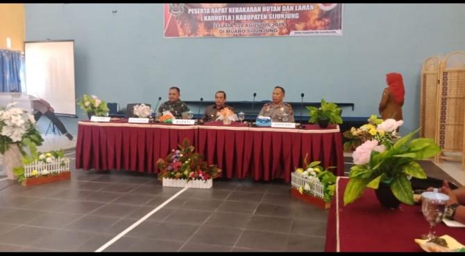 Rapat Karhutla Kabupaten Sijunjung