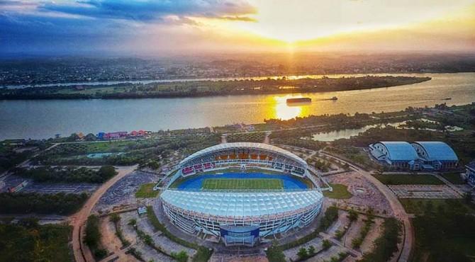 Stadion Aji Imbut, salah satu stadion di ibukota baru.