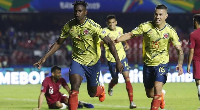 Gol tunggal Kolumbia diciptakan oleh Duvan Zapata